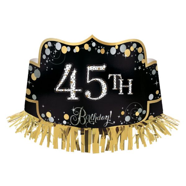 Gold Celebration Foil Crown With Fringe
